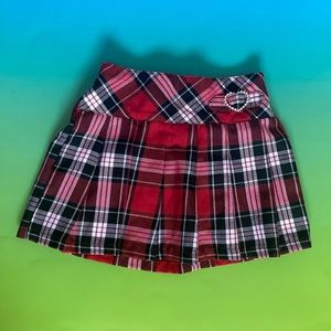 George Toddler (4T) Plaid Pleated Red Skirt
